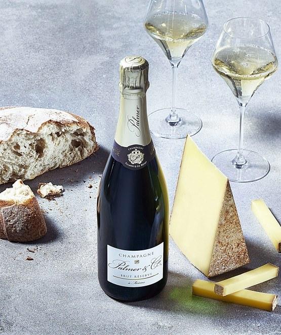 Coffret Champagne Brut Réserve (1 bouteille / 2 flûtes)