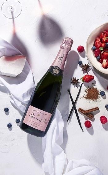 Champagne Rosé Solera Magnum - Mise en situation