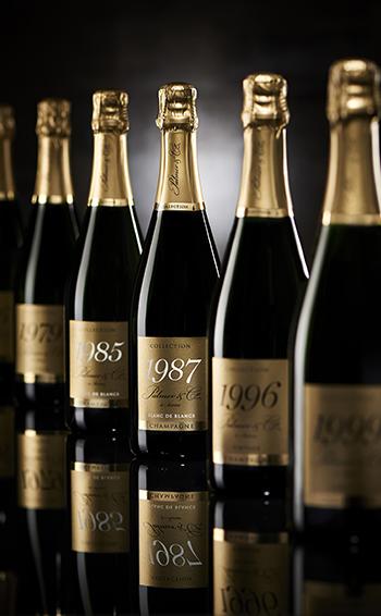 Champagne Vintage Blanc de Blancs 1985 en coffret - Mise en situation